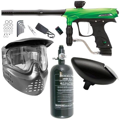 Proto Rail Paintball Marker Beginner Package - Lime Dust