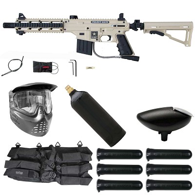 Tippmann US Army Project Salvo Paintball Starter Package Tan / Black