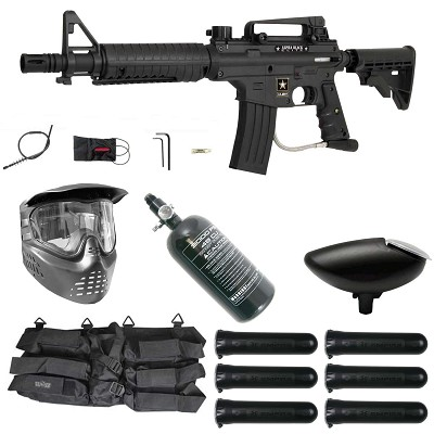 Tippmann US Army Alpha Black Elite Electronic Paintball Rookie Package