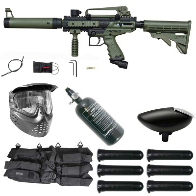 Tippmann Cronus Tactical Paintball Gun Rookie Package Olive / Black