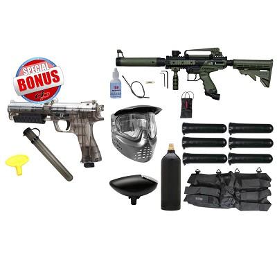 Tippmann Cronus Tactical Paintball Gun Starter Package Olive and JT ER2  Pistol