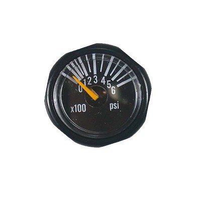 Invert Micro Gas Gauge 600 PSI - Black