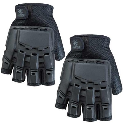 Empire BT 2013 Hard Back Fingerless Paintball Gloves Black