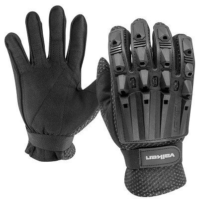 Valken Alpha Full Finger Plastic Back Gloves