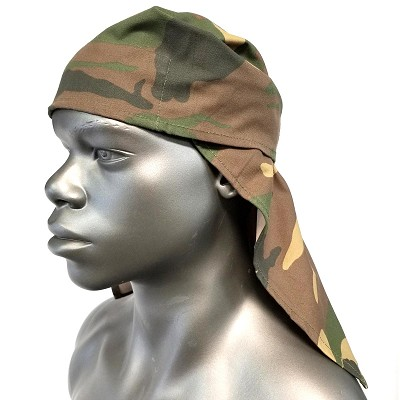 Headwrap with Camo Fabric Top