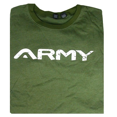 Angel Army T-Shirt Green Medium