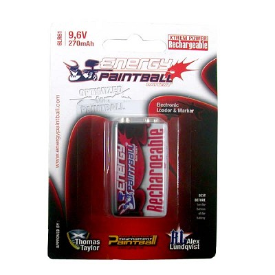 Energy Paintball 9V Rechargeable - 270mAh Battery 1 Pack