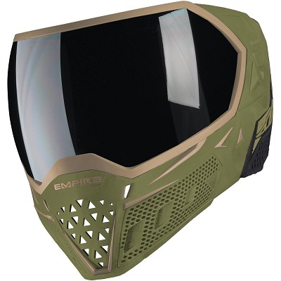 Empire EVS Paintball Mask Olive Tan with Extra Lens
