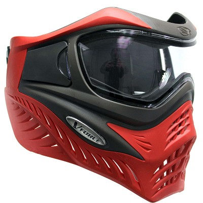 VForce Grill Paintball Mask Thermal Grey Red Scarlet