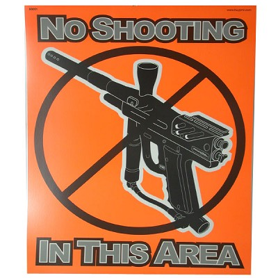Extreme Rage Safety Poster Orange - No Shooting