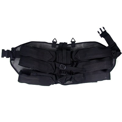 6+1 Paintball Harness Black with Clip Belt