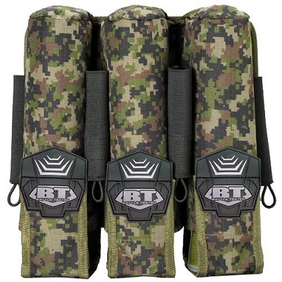 BT 08 3+4 Pod Paintball Pouch Molle Woodland Digital Camo
