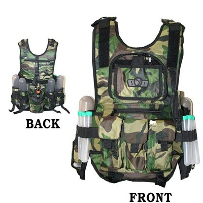 GXG Tactical Paintball Vest Woodland