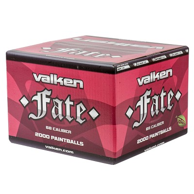 Valken Fate Paintballs 2000 Rounds Green Shell White Fill