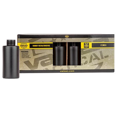 Valken Tactical Thunder V Sound Grenade Cylinder B 12 Pack Shells