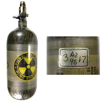 Pure Energy 110 ci 4500 psi Nitrogen Tank 03/2017 Hydro USED