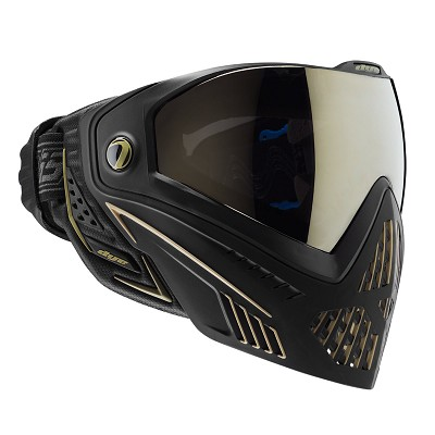Dye I5 Thermal Paintball Goggles Onyx Black/Gold