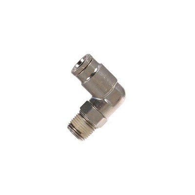 Macroline Fitting 90 Degree Swivel - Nickel