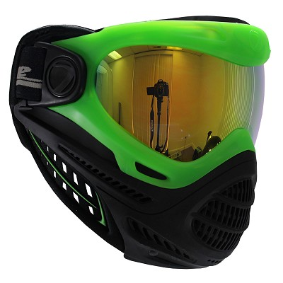 Dye Axis Pro Paintball Mask Lime Northern Lights