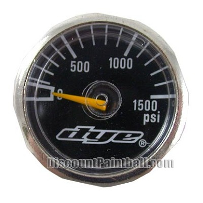 Dye Mini Gauge 0 - 1500 psi