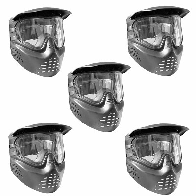 GXG X-VSN Paintball Mask Black 5 Pack