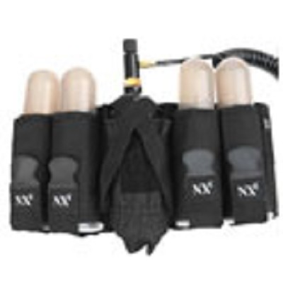 NXE SP Series 4+1 Pod and Tank Paintball Harness Black *With TUBES