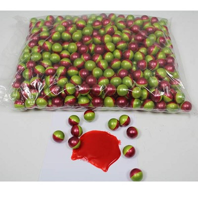 Zombie Paintballs 2000 Rounds Green/Red Shell Blood Red Fill *Seconds*